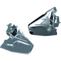 Kuryakyn Louvered Chrome Transmission Cover For Honda Goldwing