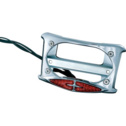 Kuryakyn Curved Laydown License Plate Frame With Run and Brake Lights