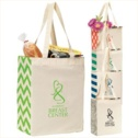 Machine Washable Origins Cotton Market Tote With 24' Shoulder Straps - Personalization Available