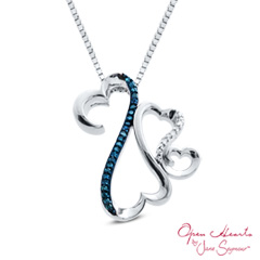 Open hearts family by jane seymour diamond accent triple motherly open hearts family by jane seymour diamond accent triple motherly love pendant in sterling silver shop zales americas diamond store since 1924 for aloadofball Images