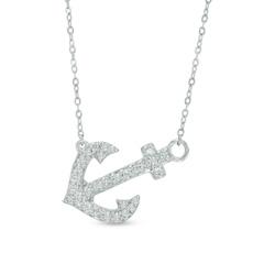 Zales 1/10 CT. T.w. Diamond Open Clover Necklace in 10K White Gold Eqsq4KkZD