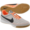 NIKE Mens Tiempo Genio Leather Indoor Soccer Shoe|Sand/Orange/Black 8