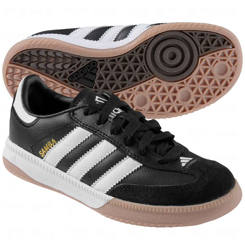 youth adidas samba indoor soccer shoes white