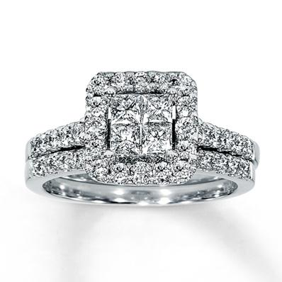 Video Home » Diamond Bridal Set 1 15 ct tw 14K White Gold
