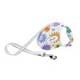 Flexi Fashion Retractable Belt Leash in Flowers