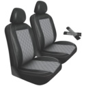 Pilot Automotive West Coast Customs Seat Covers; 4 Piece; Grey