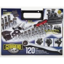 Gearhead 120pc Socket Set With 3-In-1 Ratchet Handle