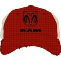 Dodge Ram Ram shield Red and Tan Mesh back hat