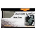 Masque Low Back Leather Seat Cover - Grey -1-Piece