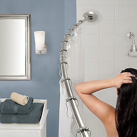 The Gripper Easy Install Adjustable Curved Shower Rod