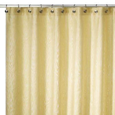 Curtains Ideas bed bath and beyond bathroom curtains : Kenneth Cole Reaction Home Woodgrain Citron Shower Curtain » Bed ...