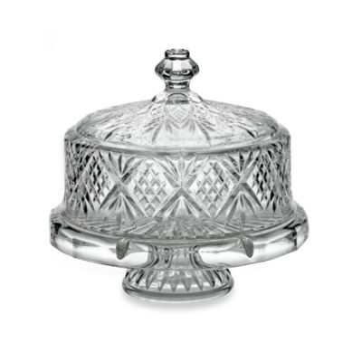 Dublin Crystal 4 In 1 Footed Cake Plate With Dome Cover