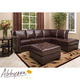 Costco - Encore Top Grain Leather Sectional and Ottoman