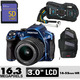 Costco - Blue Pentax K-30  Weatherproof DSLR Camera with 8GB SD Card & Sling Bag