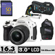 Costco - White Pentax K-30  Weatherproof DSLR Camera with 8GB SD Card & Sling Bag