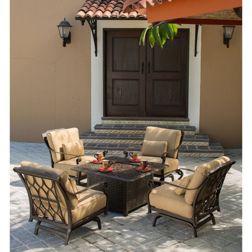 Soleil 5 Piece Patio Conversational Seating With Fire Table » Welcome To  Costco Wholesale