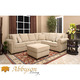 Costco - Monte Carlo 2-piece Fabric Sectional and Ottoman