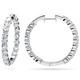 Costco - Round Diamond Hoop Earrings (2.95 ctw)