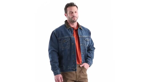 2a7edc92f Guide Gear Men's Quilt Lined Denim Jacket 360 View