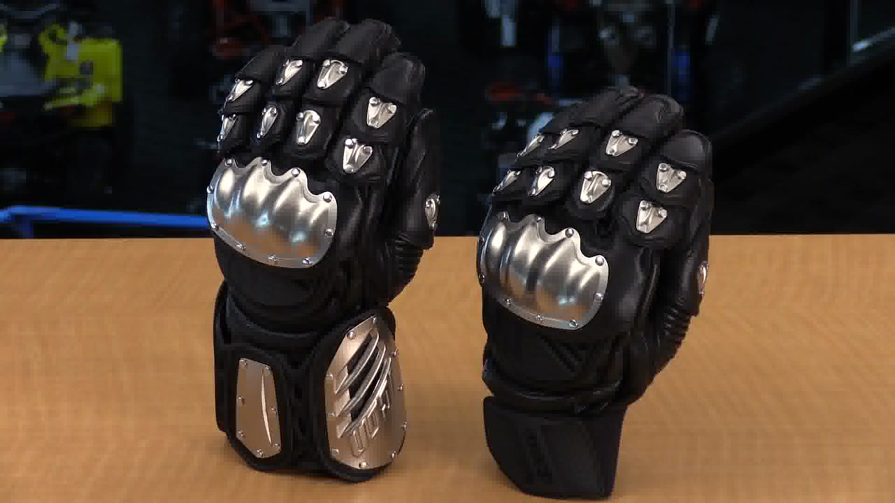 Icon justice leather motorcycle gloves - Icon Timax Long And Short Leather Motorcycle Gloves Review Video Gallery