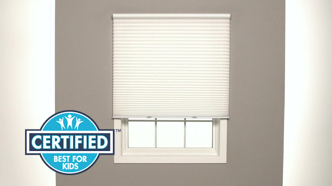 How to Install Bali Cordless Pleated Shades - Outside Mount  for Window Coverings Outside  45hul