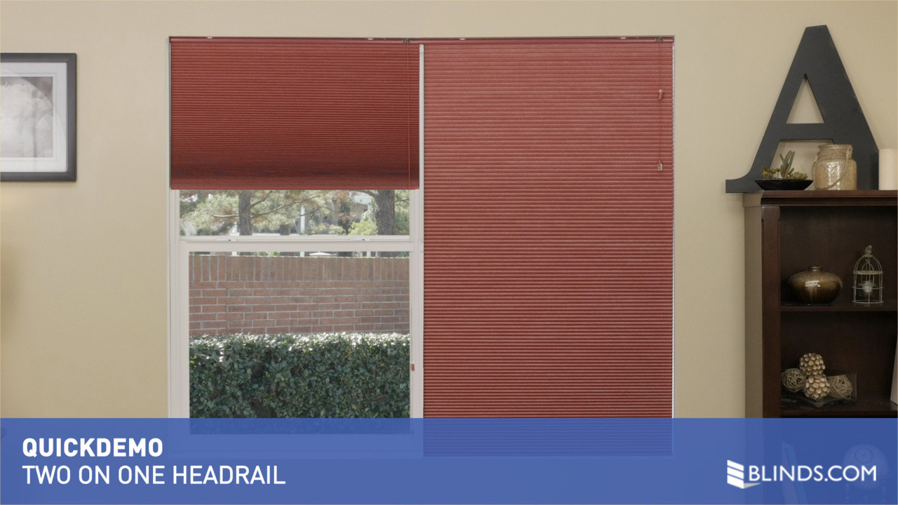 with headrail one thumb accordia option on levolorhdrlmulticell levolor flv multiple raquo american v blinds video cellular gallery