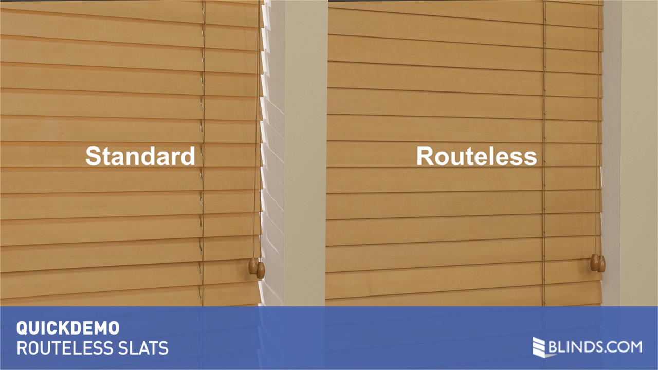 Routless Option for Wood and Faux Wood Blinds QuickDemo raquo