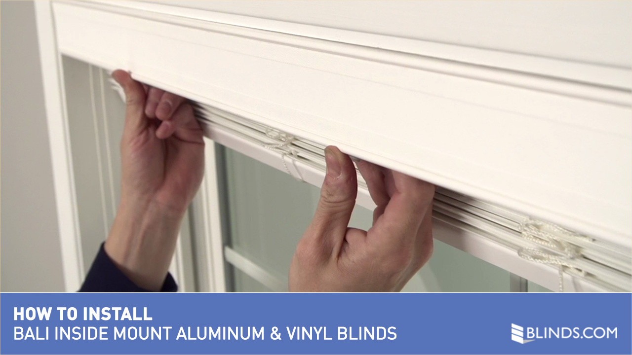 How to install bali aluminum and vinyl blinds inside mount raquo watermark solutioingenieria Images