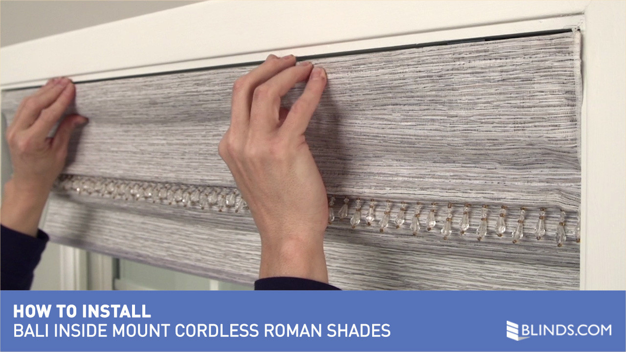 how to install bali cordless roman shades inside mount u0026raquo safer for kids video gallery - Cordless Roman Shades