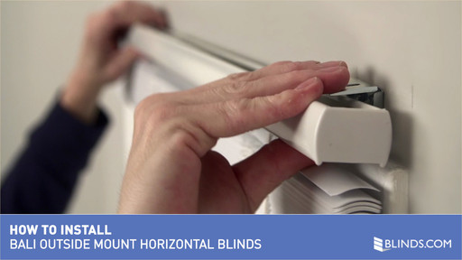 How To Install Bali Horizontal Vinyl And Aluminum Blinds Outside Mount