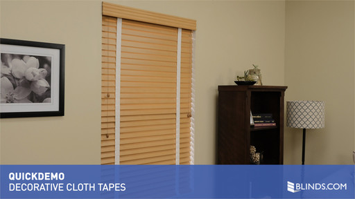 Video Home Decorative Cloth Tapes For Wood And Faux Blinds