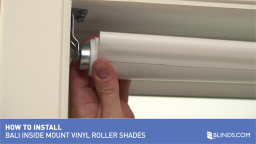 Bali Blinds How To Install Vinyl Roller Shades Inside Mount