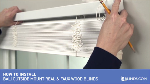How To Install Bali Real Wood And Faux Blinds Outside Mount