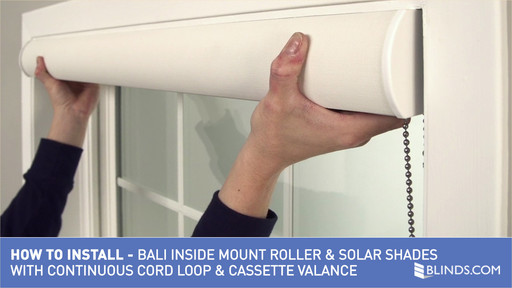 How to Install Bali Solar | Roller Shades with Cord Loop & Cassette Valance  - Inside Mount
