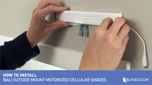 How To Install Bali Motorized Cellular Shades Outside Mount