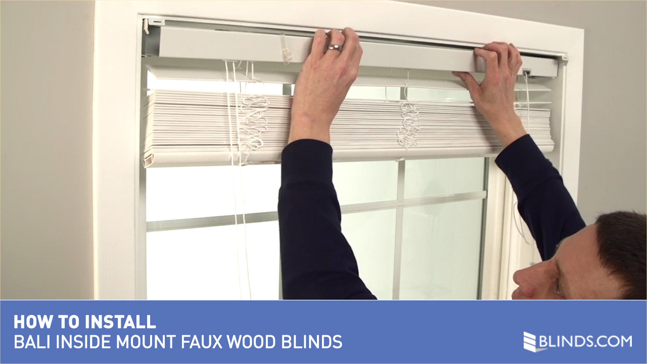 how to install bali real wood and faux wood blinds inside mount video gallery