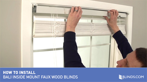 How To Install Bali Real Wood And Faux Blinds Inside Mount