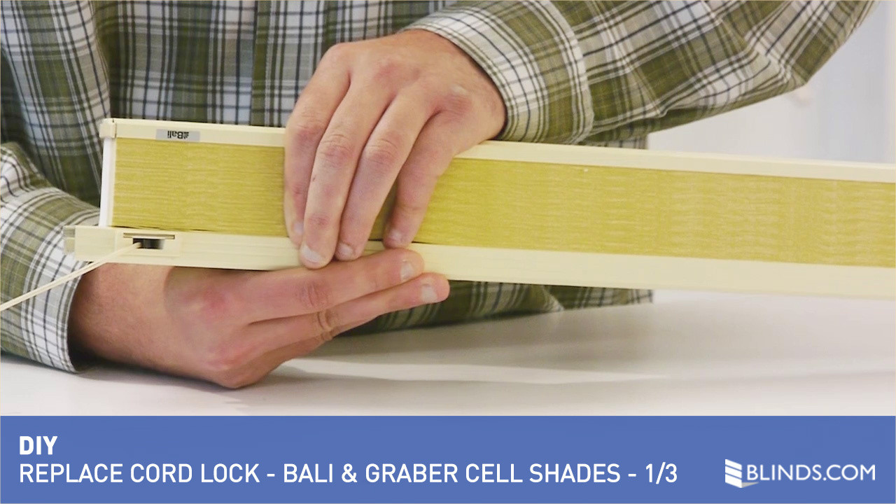 how to replace a cord lock on a bali or graber brand cellular shade 1 of 3 u0026raquo cellular shades diy video gallery