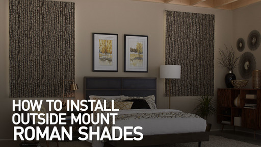 How To Install Outside Mount Fabric Roman Shades Raquo Instomshaderoman Blinds Video Gallery