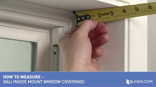 How to measure window for blinds Sash Windows Bali Blinds How To Measure Windows For Inside Mount Window Coverings raquo Aluminum Blinds Cellular Shades Faux Wood Blinds Pleated Shades Blindscom Bali Blinds How To Measure Windows For Inside Mount Window