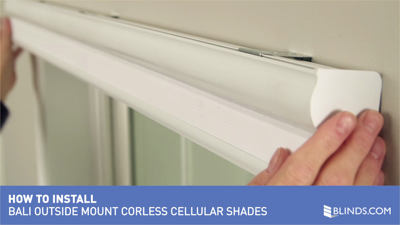 How to install bali cordless cellular shades outside mount raquo how to install bali cordless cellular shades outside mount raquo safer for kids blinds video gallery solutioingenieria Images