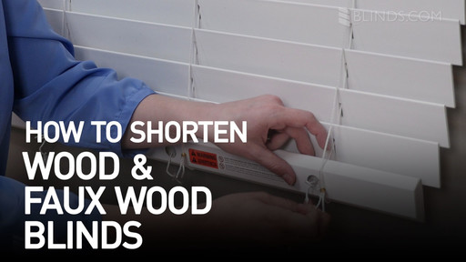 How To Shorten Blinds Wood And Faux Wood Blinds