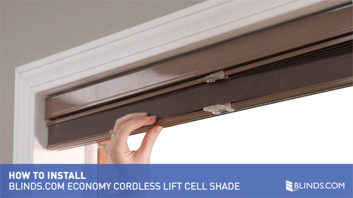 How To Install Inside Mount Economy Cellular Shades With Cordless Lift Raquo Blinds Com Gallery