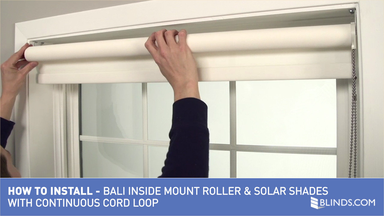 Bali blinds how to install solarroller shades with continuous loop bali blinds how to install solarroller shades with continuous loop lift inside mountv raquo roller and solar shades blinds video gallery solutioingenieria Images