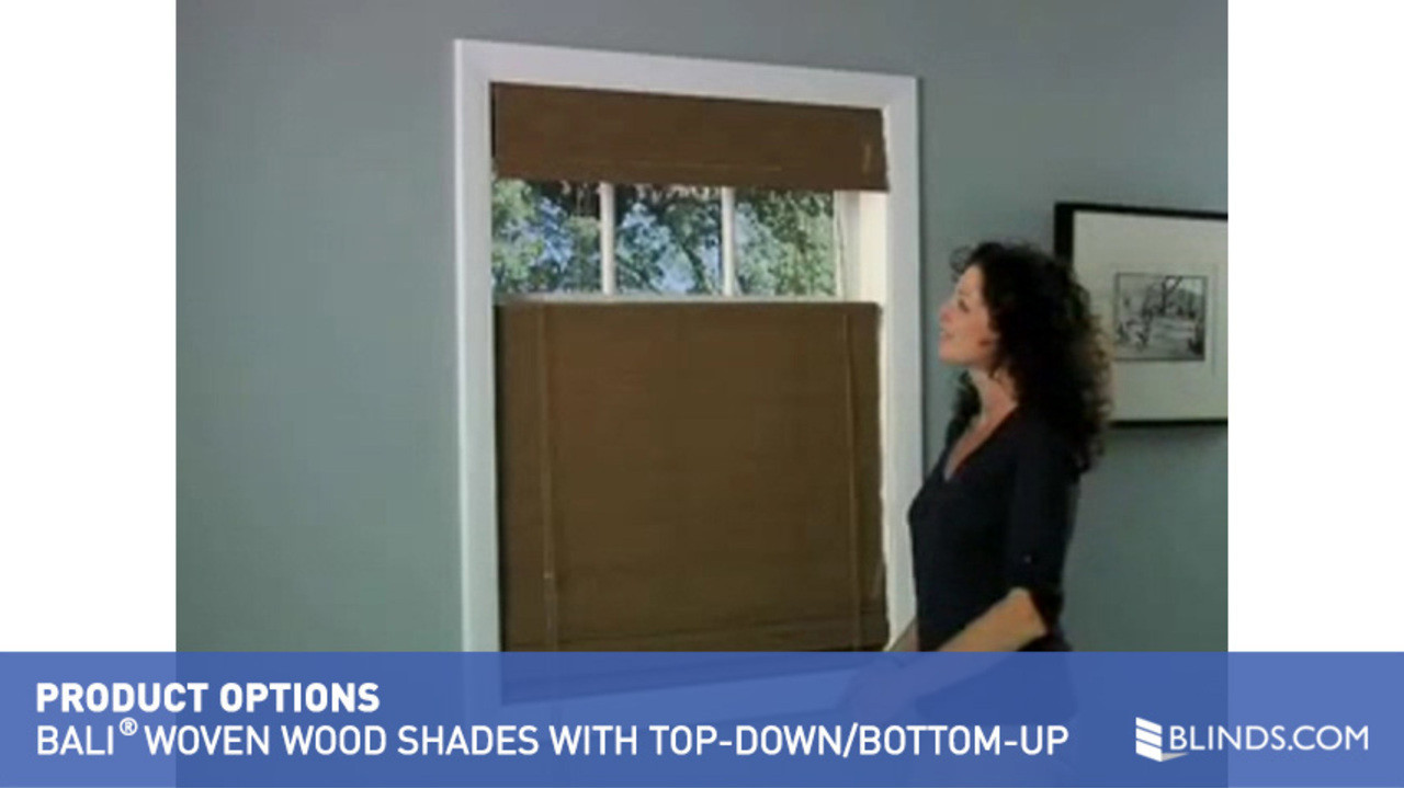 bali woven wood shades with the lift u0026raquo product options video gallery