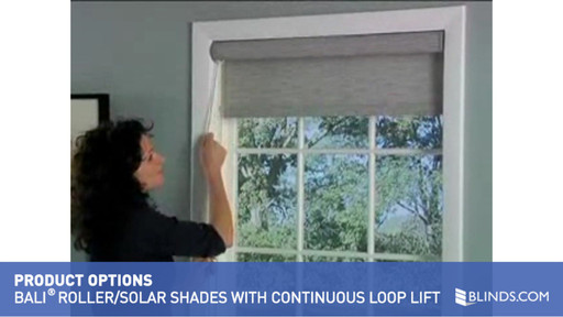Bali Roller/Solar Shades with Continuous Loop Lift
