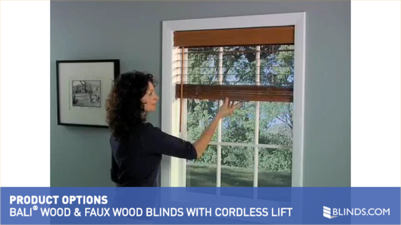 bali wood and faux wood blinds with cordless lift raquo bali wood and faux wood blinds with cordless lift raquo balioptcdlsblindwoodfaux product options video gallery