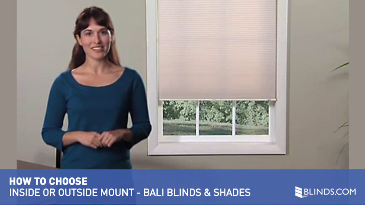Bali Blinds And Shades Inside Outside Mount Considerations Raquo Balioptmounttype How To Choose Video Gallery