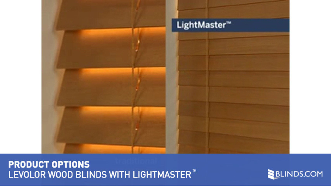 levolor blinds with lightmaster u0026raquo wood blinds product options video gallery