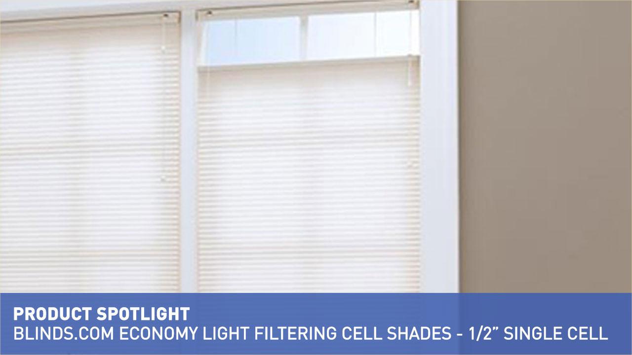 economy light filtering cellular shade 12u002634 u0026raquo blindscom cellular shades product spotlight insulating video gallery